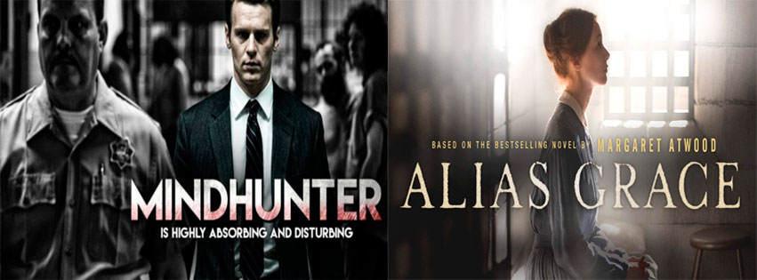 Carteles de ambas series: Mindhunter y Alias Grace