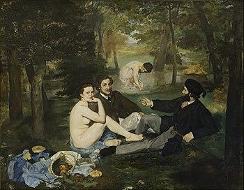óleo sobre lienzo de Édouard Manet. El almuerzo en la hierba