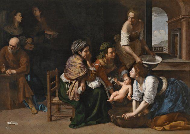 Nacimiento de san Juan Bautista Hacia 1635. Óleo sobre lienzo, 184 x 258 cm. GENTILESCHI, ARTEMISA