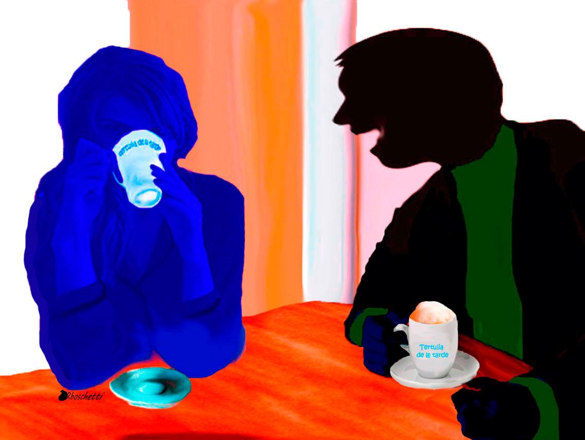 Saturnino Segundo satisfecho con la respuesta de Lucía a su juego de las tazas