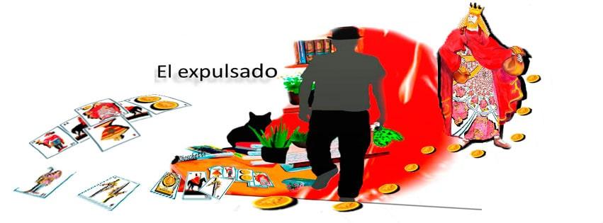 Personas, gato, plantas, barajas españolas. El expulsado. Saturnino Segundo. El poder, las relaciones y sus creencias