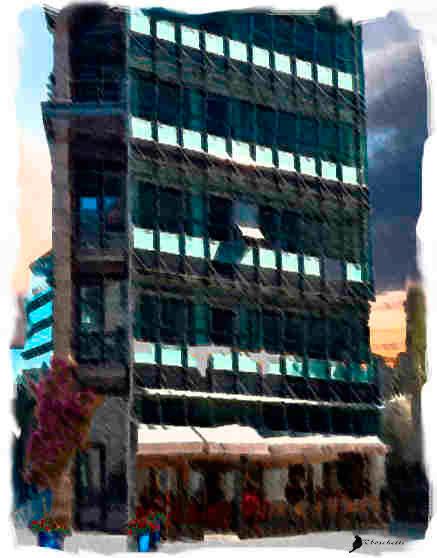 Lejos del edificio en donde queda el piso de Daniel