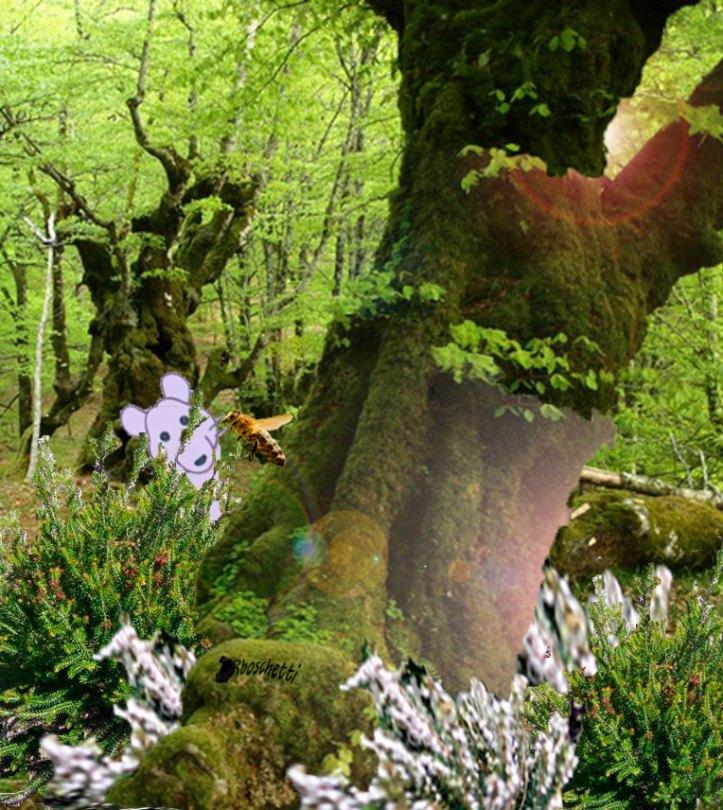 Apis Apidae en el Bosque imaginado conoce a Ratonlab. Forma parte de Juego de historias