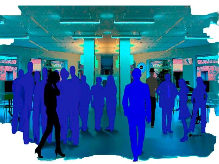 Primera reunión en el salón de reuniones y conferencias del trabajo de Saturnino Segundo